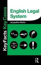 English Legal System (Key Facts Key Cases), Good Condition Book, Martin, Jacquel