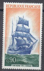 France 1972 MNH Mi 1792 Sc 1343 Newfoundland Sailing Ship, barquentine **
