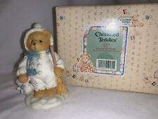 "Nib Retired Enesco Cherished Teddies ""Earl"" Warm Hearted Friends Boy #131873"