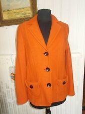 Veste blazer cintré laine bouillie orange FRANK WALDER  42FR 40D 14uk 3 boutons