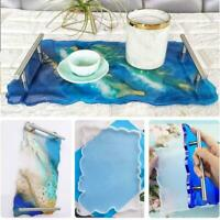 Large Resin Tray Silicone Mold Plate Dish Mould DIY Craft Casting Epoxy Kit C2L8