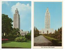 2 Card Vintage Postcard Lot (379) - LOUISIANA STATE CAPITAL - BATON ROUGE