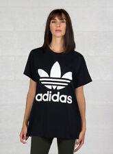 Adidas Big Trefoil Tee Maglietta Donna Nero 42 (g6p)
