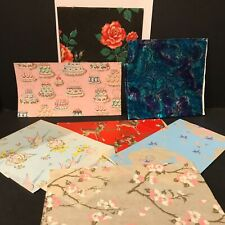 Lot of Vintage Gift Wrapping Paper Scraps and Used Pieces Christmas Baby + More