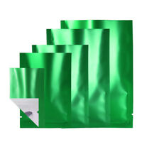Clear Front Green Back Bags Flat Pouch Mylar Type Heat Sealant Pouches