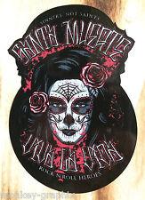 "Oldschool pinup adesivo ""Santa Muerte"" tira pugni ADESIVO US Auto Bike Mexico"