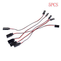 5Pcs RC Car Helicopter 150mm Servo Extension Cord Cable Wire Lead JR Male P0CA