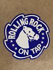 "Rolling Rock ""On Tap"" Metal Sign 17"""