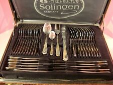 SOLIGEN (GERMANY) CASED SET OF STAINLESS STEEL CUTLERY, GOLD PLATED DECORATION