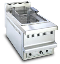 Gas Fritteuse mit Wannensystem Gasfriteuse 1x8L