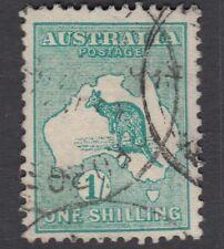AUSTRALIA :1913 1/- emerald-green  die II SG 11 used
