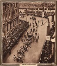 CORONATION 1937. And so into Whitehall. State carriage 1937 old vintage print