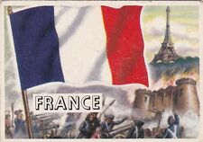 1956 Topps Flags of the World Trading Card France #40