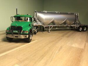 First Gear 1/34 Clayton Concrete Mack Granite with Bulk Hauler trailer NO BOX