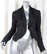COMME DES GARCONS Womens Black Chiffon Sequin Long-Sleeve Blazer Jacket Coat M