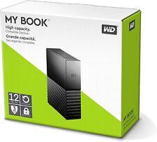 Western Digital My Book 3,5 Zoll 12TB Externe Festplatte - Schwarz Neu und OVP