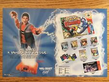 Nintendo 64 N64 Console 2001 Poster Ad WAL-MART Pokemon Stadium Gameboy Color