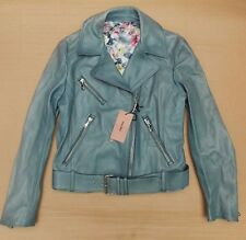 MIU MIU LAMB LEATHER BIKER JACKET LADIES>BNWT>£2200>GENUINE>COAT>PRADA>BELTED>42