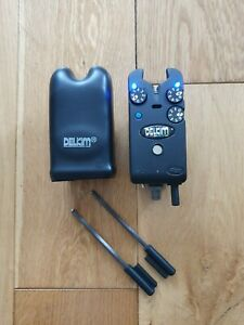 Blue Delkim TXi plus bite alarm with snag ears hard case in great condition..