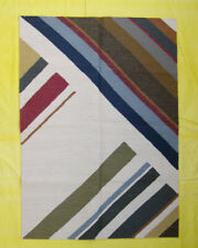 Multi Colour Wool Kilim Hand Woven Area Rug Afghan 5x7 Contemporary Living Room