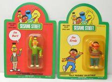 Sesame Street Vintage action figure set Bert and Ernie 1985 Tara Toys NIP
