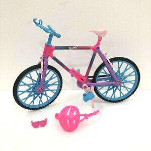 Vintage Barbie BIKING FUN Bike Bicycle with Helmet  & Glasses Accessories 1990s