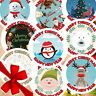 24 Personalised Christmas Stickers Labels Gift Tags Presents Xmas Reindeer Santa