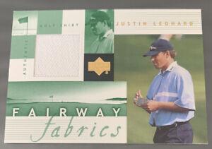2002 Upper Deck Justin Leonard Fairway Fabrics Tour  Golf Shirt Swatch