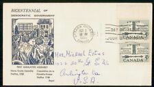 Mayfairstamps Canada Fdc 1958 Cover Democratic Government Vertical Pair wwh83761