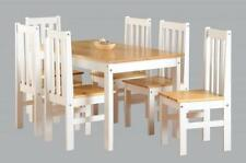 Oak Country Up to 6 Seats Table & Chair Sets with 5 Pieces