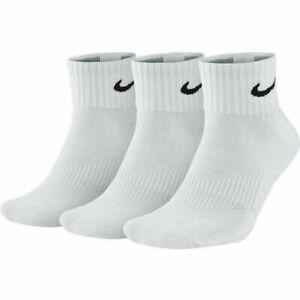 NIKE Men Women Socks 1-3-6 Pairs  Quarter Ankle Cotton Trainer Sports Socks Lot
