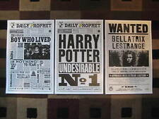 """Harry Potter - The Daily Prophet (11"""" x 17"""") Movie Poster Prints (Set of 3)"""