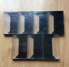 7 Black Plastic Cassette Cases