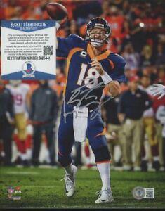 Peyton Manning Broncos Signed 8x10 Photo AUTO Autograph Beckett BAS COA