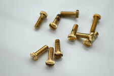 10 brass UK made 5/32 Whitworth 1/2 inch knurled gallery screw light lamp TY3