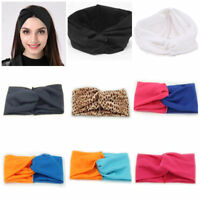 Women Cotton Turban Twist Knot Head Wraps Headbands Twisted Knotted Hair Bands