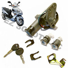 IGNITION KEY LOCK SET GY6 4STROKE CHINESE SCOOTER LANCE MILAN VIP TANK PEACE