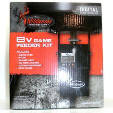 Wildgame Innovations Turkey Deer Hunter Digital Game Feeder Kit 6V Timer Spinner