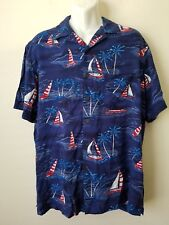 **NWT MEN'S PATRIOTIC AMERICAN PRINT USA BUTTON UP SHIRT BY GEORGE. SIZE 3XL.**