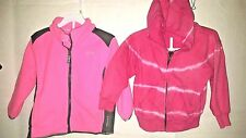 Baby Size 2T Resort Hot Pink Hoodie Zip Toddler Girl's Hooded Jacket Spring LOT