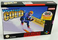 Jeu WINTER GOLD sur Super Nintendo SNES Neuf carton d'usine version PAL NEW !