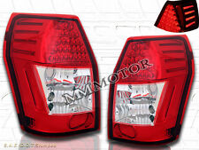 2005-2008 DODGE MAGNUM RED CLEAR LED TAIL LIGHTS LH+RH LAMPS 05 06 07 08