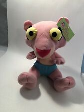 "Baby Pink Panther in Blue Diaper 11"" Plush Nanco Stuffed Animal"