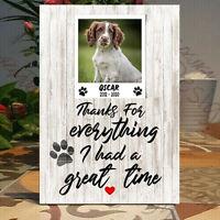 Personalised Dog-Cat memorial, Pet loss frame Cat memorial, Memorial Plaque