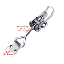 "Boat Locker Latch Anti-Rattle Adjustable 1"" Hatch Fastener Clamp Stainless Steel"