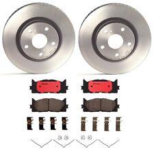 Brembo Front Brake Kit Ceramic Pads 296mm Vented Disc Rotors for Lexus Toyota