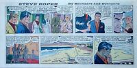 Steve Roper by William Overgard - full color Sunday comic page - Feb. 4, 1962
