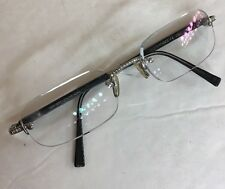 Luxuriator Diamond And Buffalo Horn In 18k White Gold Prescription Eye Glasses