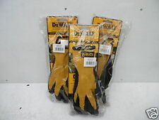 3 X PAIRS OF DEWALT LATEX TEXTURED RUBBER COATED GRIPPER GLOVES SIZE 10 DPG70L