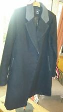 Asos maternity coat size 14 black and grey vgc winter warm smart formal jacket